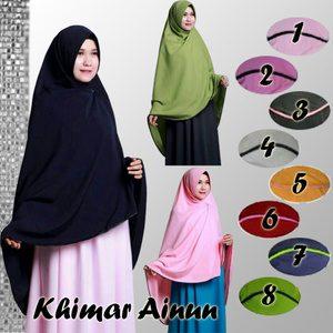 Jilbab Khimar Ainun Premium
