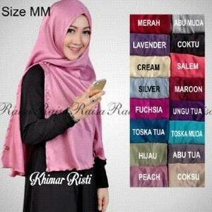 Jilbab Khimar Risti Velvet