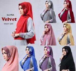 jilbab velvet sequin