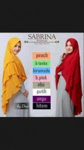 Jilbab Khimar Sabrina Premium
