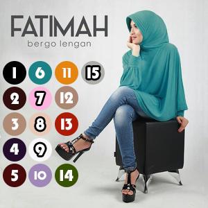 Jilbab bergo lengan Fatimah
