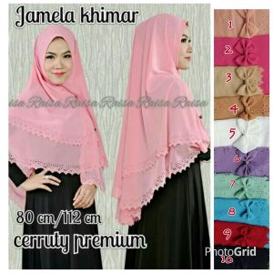 Jilbab Jamela Khimar Laser 2 layer