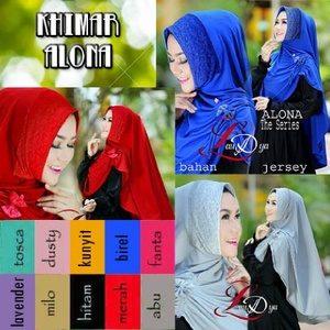 Jilbab Khimar Alona Premium