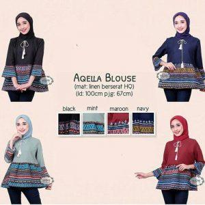Atasan wanita aqella blouse