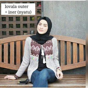 Blouse wanita lovella outer
