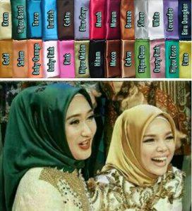 Jilbab segi empat bahan satin