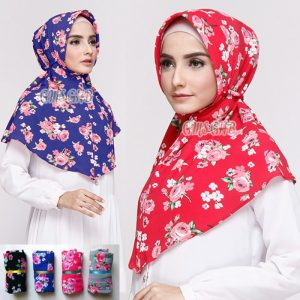Jilbab Instant Rubiah Bunga with pet