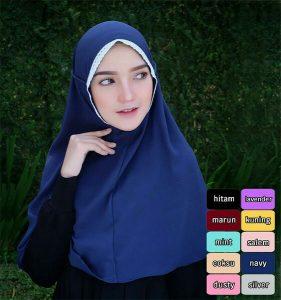 Jilbab instan Bergo Rubiah Renda