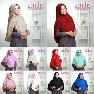Jilbab Instan Khimar Jersey Serut Zanitha