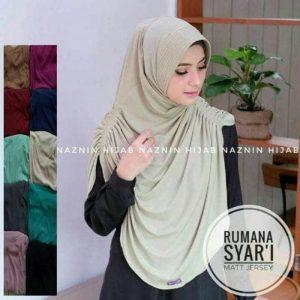 Jilbab instan / Hijab Instan Rumana Syar'i Jersey