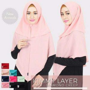 Jilbab instan Khimar Kimmy layer wit pad