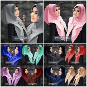 Jilbab instan Siria Tammia Squins diamond crepe