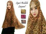 Jilbab Khimar Syar'i Bubble Leopard non pad