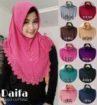 Jilbab instan / Hijab Bergo Daifa Cutting jersey