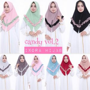 Jilbab Instan Candy bubble pop