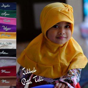 Jilbab instan anak / Jilbab Pita Tali