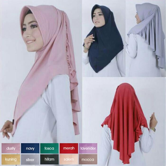 Jilbab Instan Hijab Bergo Laras Antem Jersey Zoya Www Ummigallery Com