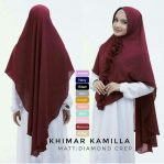 Jilbab instan / Hijab Khimar Kamilla pad antem Diamond