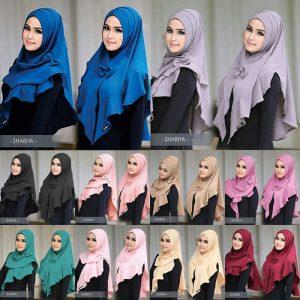 Jilbab instan / Hijab Shabiya Lipit bubble pop