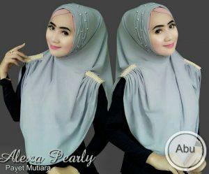 Jilbab instan / Hijab Instan Alexa Pearly non pad jersey zoya