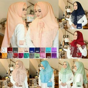 Jilbab instan / Hijab Khimar Mini Misha softpad antem Diamond crepe Rubiah