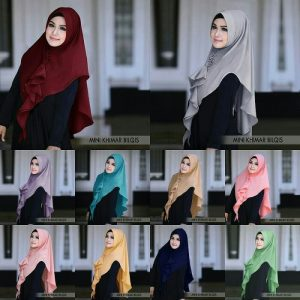 Jilbab instan / Mini Khimar Bilqis with pad bubble pop