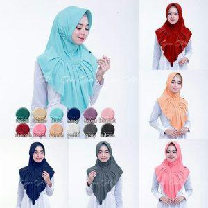 Jilbab instan / Hijab Instan Zenova with pad Jersey Zoya