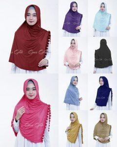 Jilbab instan / Hijab Khimar Athaya  with pad jersey zoya