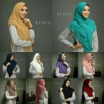 Jilbab instan / Hijab Khimar Benic sotfpad double layer ceruty