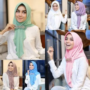 Jilbab instan / Hijab Aqilla Instan with pad bubble pop