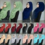 Jilbab instan / Hijab Siria Najma with pad bubble pop