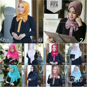 Jilbab instan Segita Pita Pad Swarosky bubble hight quality