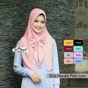 Jilbab instan / Siria Hoodie Plain Lyra diamond hight
