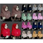 Jilbab instan / Hijab Famella Pearly Payet Mutiara diamond crepe