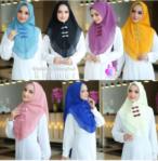 Jilbab Instan / Hijab Shakina Shanghai Khimar softpad double sifon ceruti