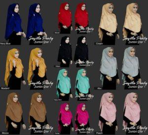 Jilbab instan / Hijab Saqilla Pearly Jumbo Syar'i