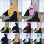 Jilbab instan / jilbab cantik One Step Hijab Amily pad bubble crepe
