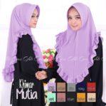 Jilbab cantik / jilbab instan Hijab Khimar Mutia pad antem bubble pop