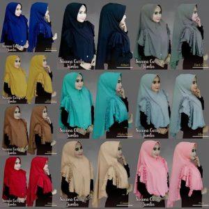 Jilbab instan / Hijab Savana Curly Jumbo / Safa Jumbo with pad jersey