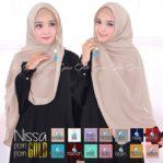 Jilbab cantik / jilbab instan Hijab Nissa Pompom Gold bubble pop