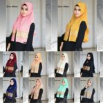 Jilbab cantik / jilbab instan / Hijab Siria Andina pad antem bubble crepe