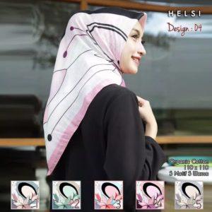 Jilbab Segi Empat Katun HELSI Motif seri : SIGNARICA – 04 (min 5 pcs)