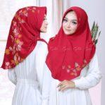 Jilbab Instan mini pad / Hijab Bergo Serut Zemira bubble print