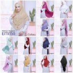 Jilbab Instan / Khimar 3Layers Emma softpad ceruti