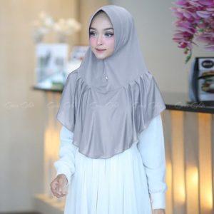 Jilbab Instan / Hijab Khimar Hilwa with pad jersey zoya