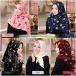 Jilbab Instan / Triangle / Segitiga Instant Fruit Edition : PINEAPPLE Bubbleprint