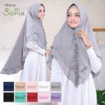 Jilbab Instan / Jilbab cantik / Hijab Khimar Sofia softpad double ceruti