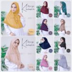 Jilbab Instan / jilbab cantik / Hijab Bergo Khanza with pad jersey zoya
