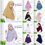 Jilbab Instan / Bergo Rempel Dinara with pad jersey