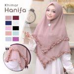 Jilbab Instan / Khimar Hanifa non pad double layer ceruty